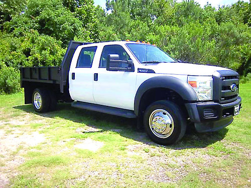 2012 FORD F550 XL Crew Cab 9ft Steel Flatbed with Side Panels Tow PkgOne Owner Ready to Work Fo