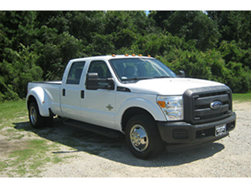 2012 FORD F350 XL Crew Cab Dually 67 Diesel Auto AC Long Bed Gooseneck Hitch Tow Package Read