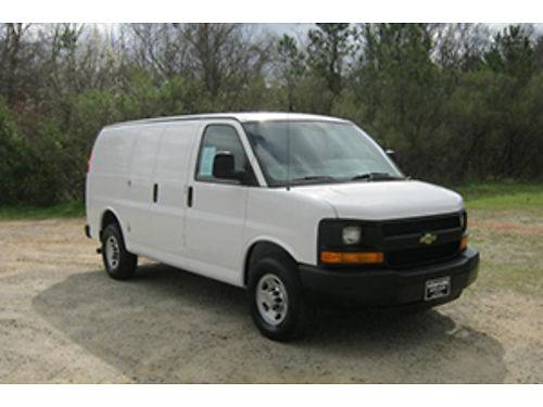 2014 CHEVY 2500 Express Cargo Van 48 V8 All Power Bulkhead Nice Interior Shelves Drawers To Get