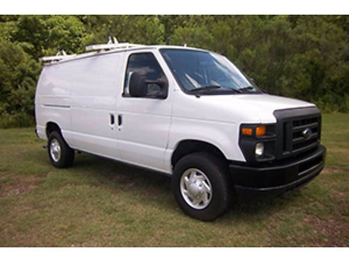 2012 FORD E250 Cargo Van 46 V8 Bulkhead Interior Shelves Cabinets with Nice Drop-Down Ladder Ra