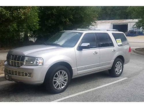 2007 LINCOLN NAVIGATOR 2wd 108k miles 54l engine v8 300hp dvd player silver with black leather