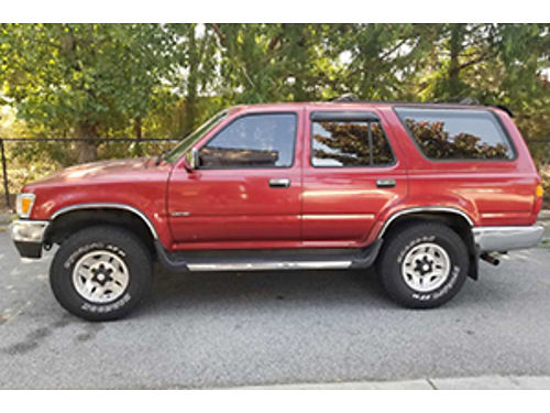 1995 TOYOTA 4 RUNNER Limited SR5 new leather interior 4wd auto ac pw pl like new tires rebuil