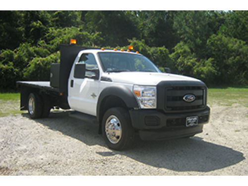 2011 FORD F450 XL 12Ft Flatbed 67 Diesel Dual Rear Wheels Cross Box Tow Package Built To Work