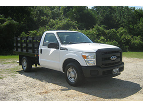 2011 FORD F250 XL 85Ft Flat Bed Reg Cab only 16K Miles 62 V8 Tow Package Fleet Pre-owned Ext