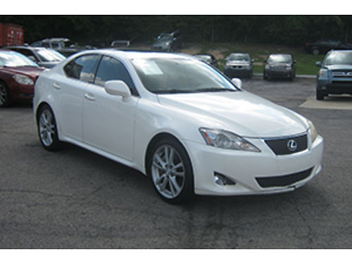 2006 LEXUS IS350 4Dr Auto White Leather Sunroof 9200 1-800-805-7984