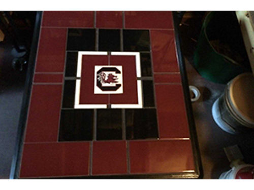 End Table Tile Tops Gamecocks Any Team Available 195 706-832-6182