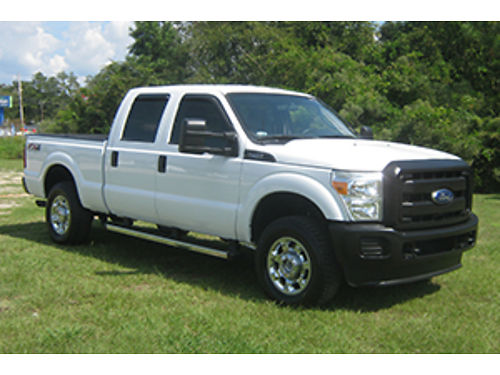 2015 FORD F250 XL 4x4 Crew Cab 62 V8 Short Bed Alloys Tow Package w Electric Brake Built to Wo