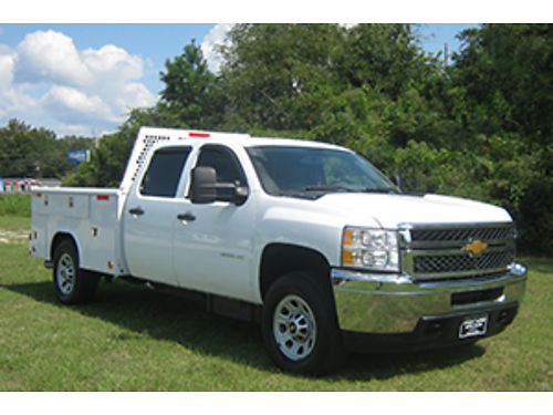 2013 CHEVY 3500 HD Crew Cab Service Truck Duramax Diesel Allison Trans Built to Work Hard for You