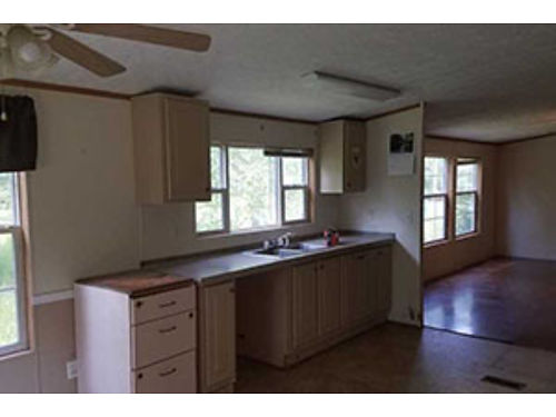 NO CREDIT CHECK Rent to own 3Br on 2 Acres wPOND in Leesville 28x56 Glamour Bath Central AC 724