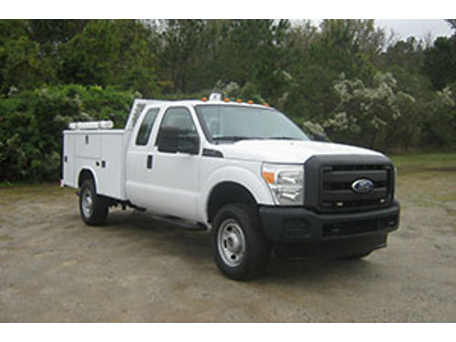 2011 FORD F350 XL 4x4 4Dr Ext Cab Service Truck Reading Body Toolbox Spot Lite Tow Package Li