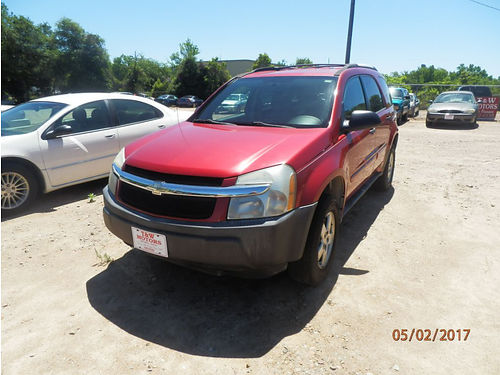 2005 CHEVY EQUINOX 4Dr Auto Red 2995 803-642-6530