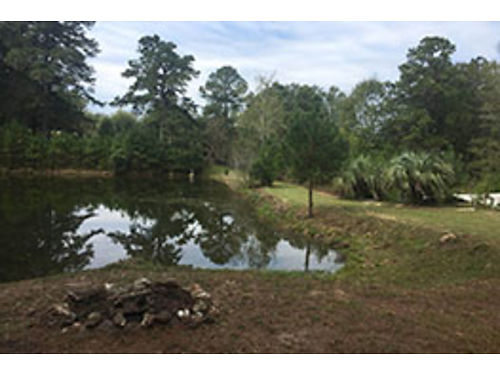 AIKEN county 29 acres with 400 road frontage hardwoods and pines 2 well stocked ponds docks  sh
