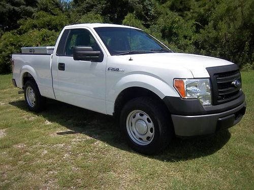 2013 FORD F150 XL 2Dr Reg Cab Short Bed 37 V6 103K Auto AC 2 Side Boxes 1 Bed Box Great Wo
