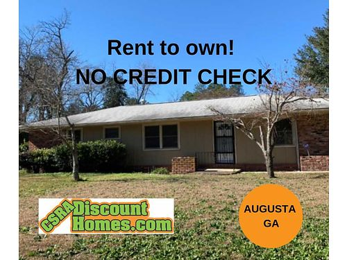 Rent to Own Spacious 32 Augusta Ga 1375 sqft Central Ac 3 Storage Shed wEle