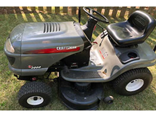 MOWER Craftsman rider with bagger completely reconditioned 700 obo for color p