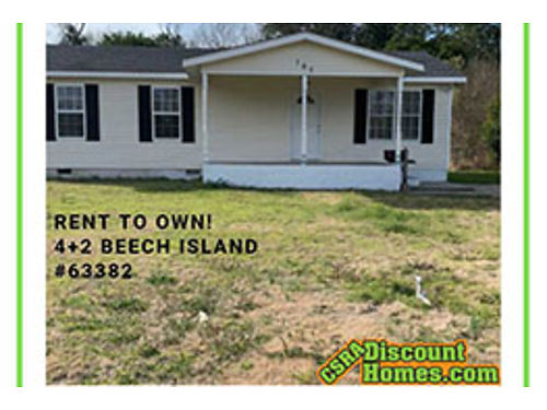 Rent to own NO CREDIT CHECK Renovated 42 in Beech Island 1296 sqft Central Ac Fenced Backyard N