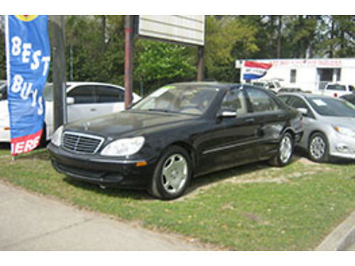 2005 MERCEDES S500 4Dr Auto Black Leather 9995 706-955-8546