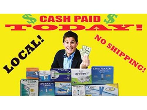 CASH TODAY   FOR DIABETIC TEST STRIPS Highest Prices Paid  FREE Same Day Pick Up NO SHIPPI