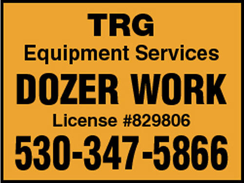 TRG Excavation Inc dozers excavators backhoes  more We build house pads d