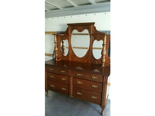 6 DRAWER antique dresser excellent condition asking 900 Redding Call 926-203-6593