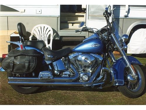 2006 HARLEY Hertiage Softtail Vance  Hines shotgun drag pipes Hi performance Rev-tech comp-box