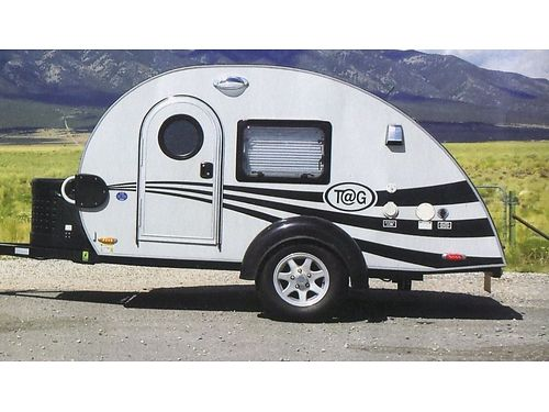 TEARDROP Trailer fully loaded queenbed TV air AMFMCD lights inside  outside pullout cooler