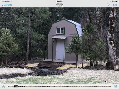 REDDING AREA one Acre with small cabin good year round creek private grassy meadow mostly fenced