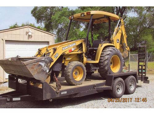 2004 JOHN DEERE 4N1 bucket thumb on backhoe 2000 hours excellent condition trailer not included