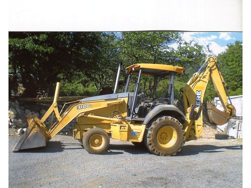 2006 JOHN DEERE 310G Turbo 84hp 2WD standard rear hoe 12 bucket pilot controls 3000hrs 205