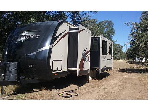 2015 STARCRAFT TRAVEL TRAILER very roomy 286L slideouts picture window captain chairs Arctic
