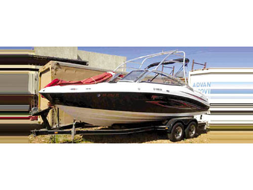 2007 YAMAHA AR210 twin jets fuel inj low hrs Bimini depth finder CD wakeboard tower trlr wn