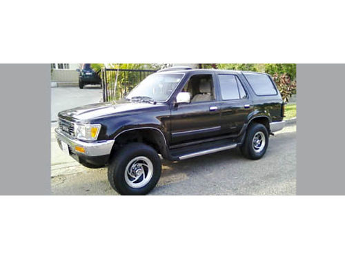 1990 TOYOTA 4RUNNER 4x4 auto V6 cold AC snrf runs good new timing belt windshield stereo t