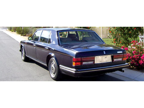 1991 ROLLS-ROYCE SILVERSPUR II - owned 8 yrs kept in climate controlled garage finished in purple b