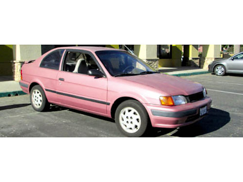 1995 TOYOTA TERCEL auto 4cyl great on gas AC CD 2dr well maint clean smogged reg to 2015