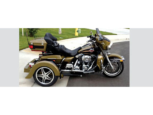 2007 HARLEY DAVIDSON FLHTDU mint condition Military Green removable Voyager Trikit off and on in