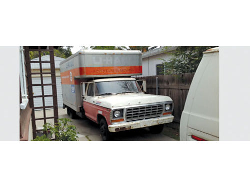 1978 FORD BOX TRUCK U-haul style 4 spd rear ramp 10 box 3 overhead over very clean cab runs