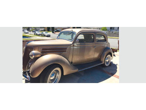 1936 FORD HUMPBACK 2 door sedan all original V8 85 HP 3 spd shift on floor no rust orange pla