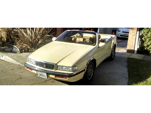 1991 CHRYSLER TC MASERATI True barn find rare 6 cyl orig hard  soft tops Yellow wbeige lthr in