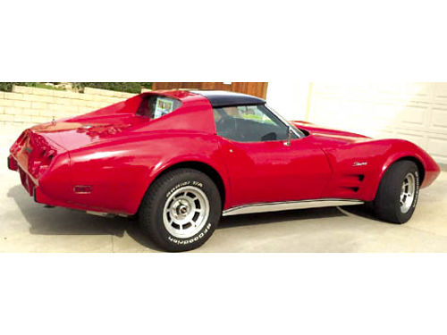 1976 CHEVY CORVETTE STINGRAY - Restored 90 new 350 black leather in pristine cond ac dual fans