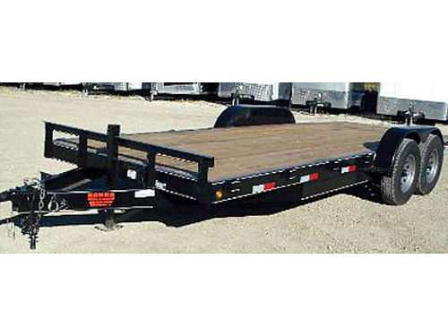 2016 ROAD BOSS FLATBED TRAILER 20FT Dovetail wood flooring New never been used dual axle w 3500