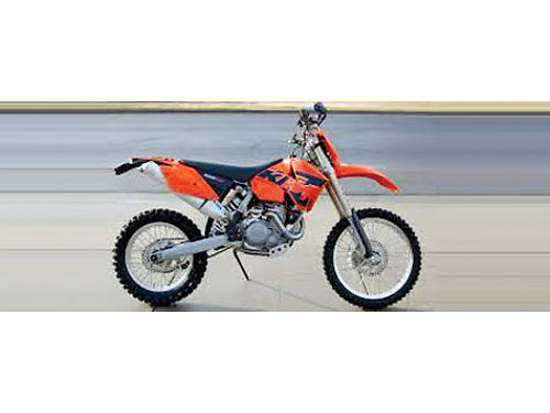 2006 KTM 525 EXC less than 60 hrs use new tires recently serviced orig cond steering stabilizer