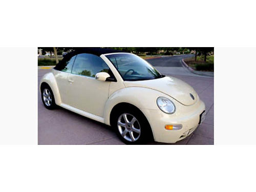 2004 VW BEETLE CONVT auto 18L 4cyl 20V Turbo CD 112K mi airbags lthr pw pdl pwr top til