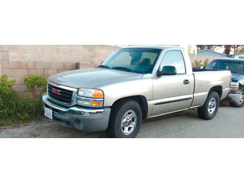 2003 GMC SIERRA 1500 manual trans 5 spd 48L shortbed 130K hwy mi xlnt cond interior and ext A