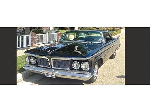 1962 CHRYSLER CROWN IMPERIAL 2 dr hardtop Blk new tires brks well maint needs some TLC good c