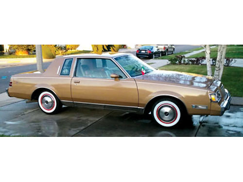 1987 BUICK REGAL LTD 2 dr auto OD strong V8 50L new gold pnt new tires CD new body fillers
