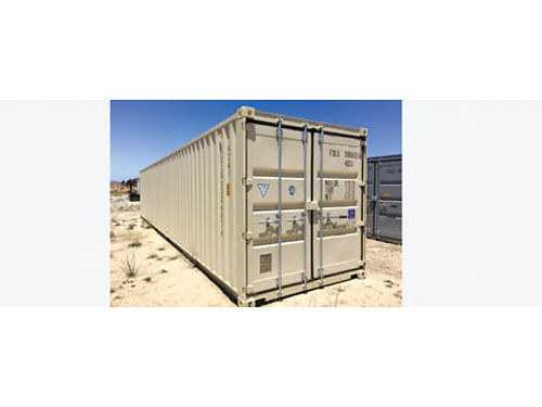 NEW 40 STORAGE CONTAINER Beige lock boxes One trip 3350 located in Long Beach CA