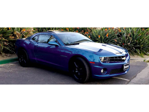 2010 CHEVY CAMARO SS - Rare Aqua Metalic Blue with factory 3 stage pearl stripes 78k mi 6spd manu