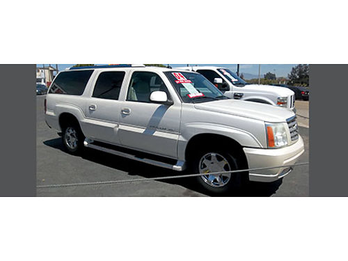 2004 CADILLAC ESCALADE ESV - top of the line ldd lthr snrf xtra cln alloys super roomy  luxur