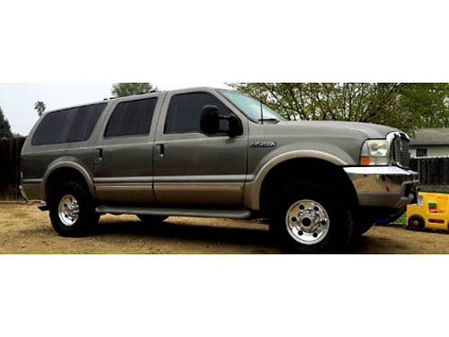 2002 FORD EXCURSION LTD V10 68L 3rd seat leather leveling kit tinted windows AC CDDVDtv