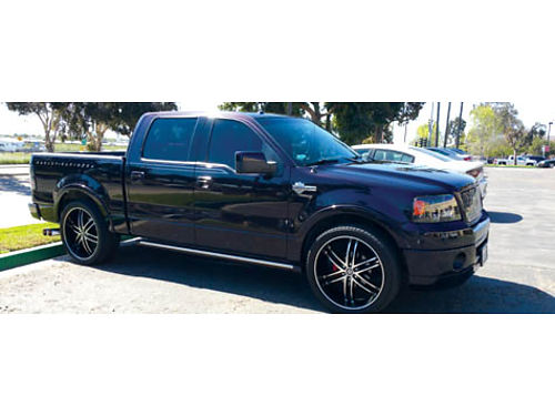 2007 FORD F150 HARLEY DAVIDSON -Fully loaded custom tires rims LED lites gr